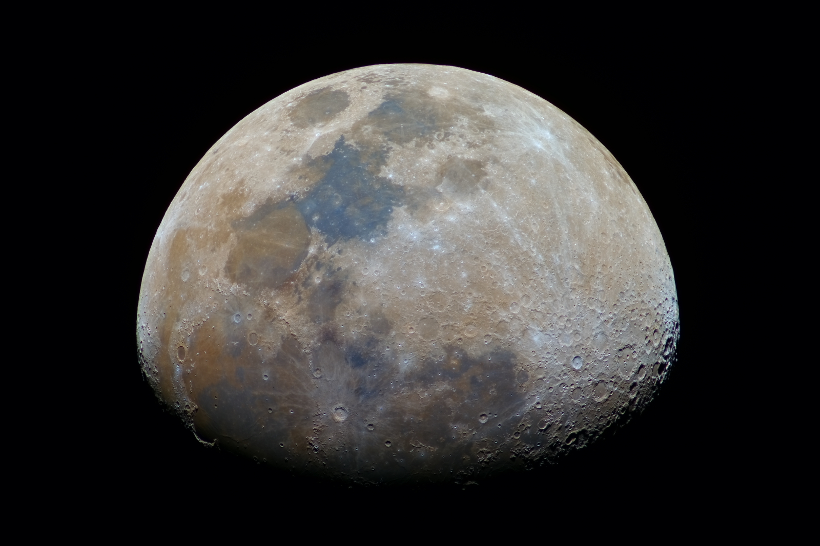 Moon Near Perigee In Full Colors